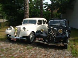Citroën Traction Avant wit trouwauto ceremoniewagen bruidsswagen