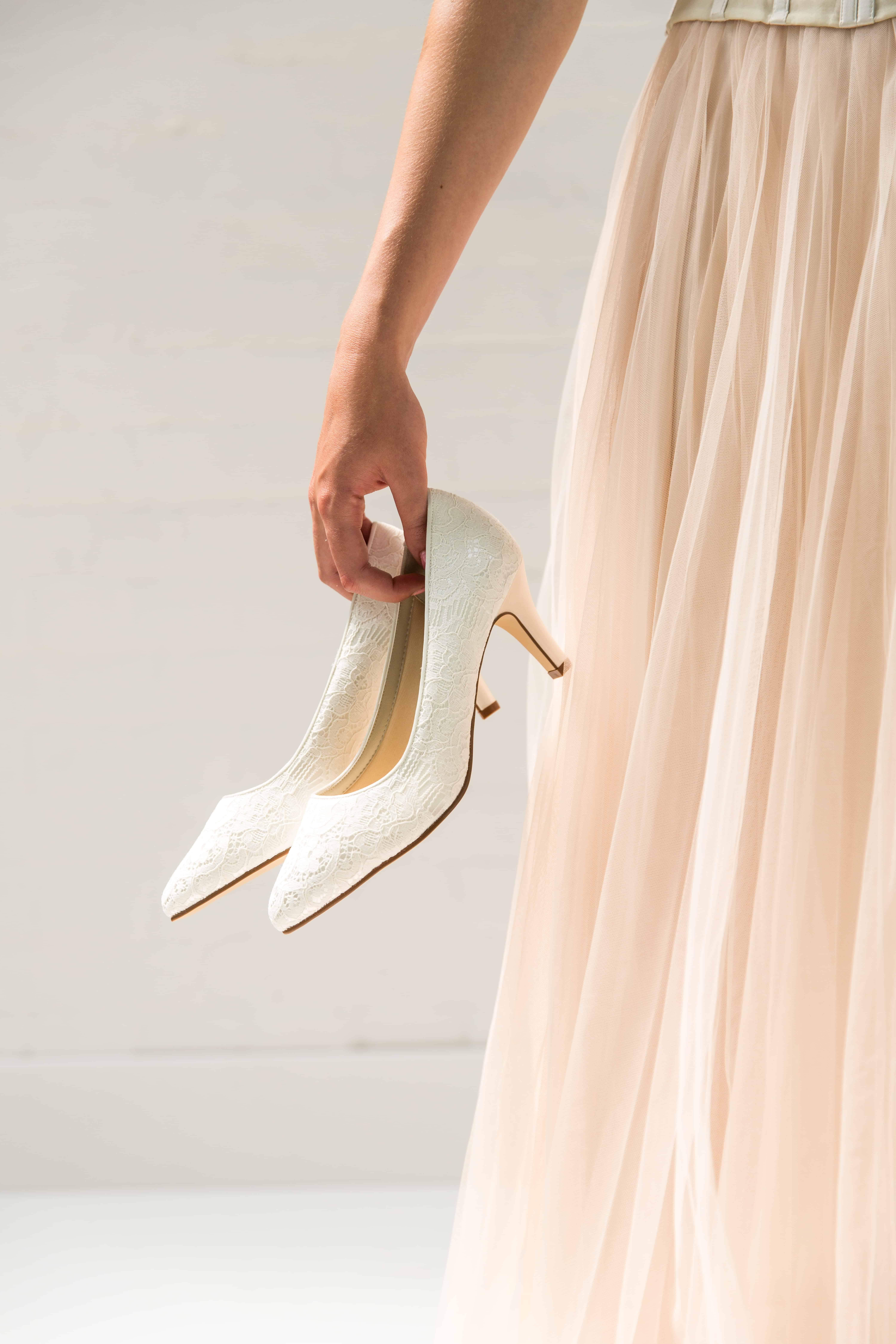 Bruidsschoenen Trouwschoenen Sneakers Pumps Bruid Pattie