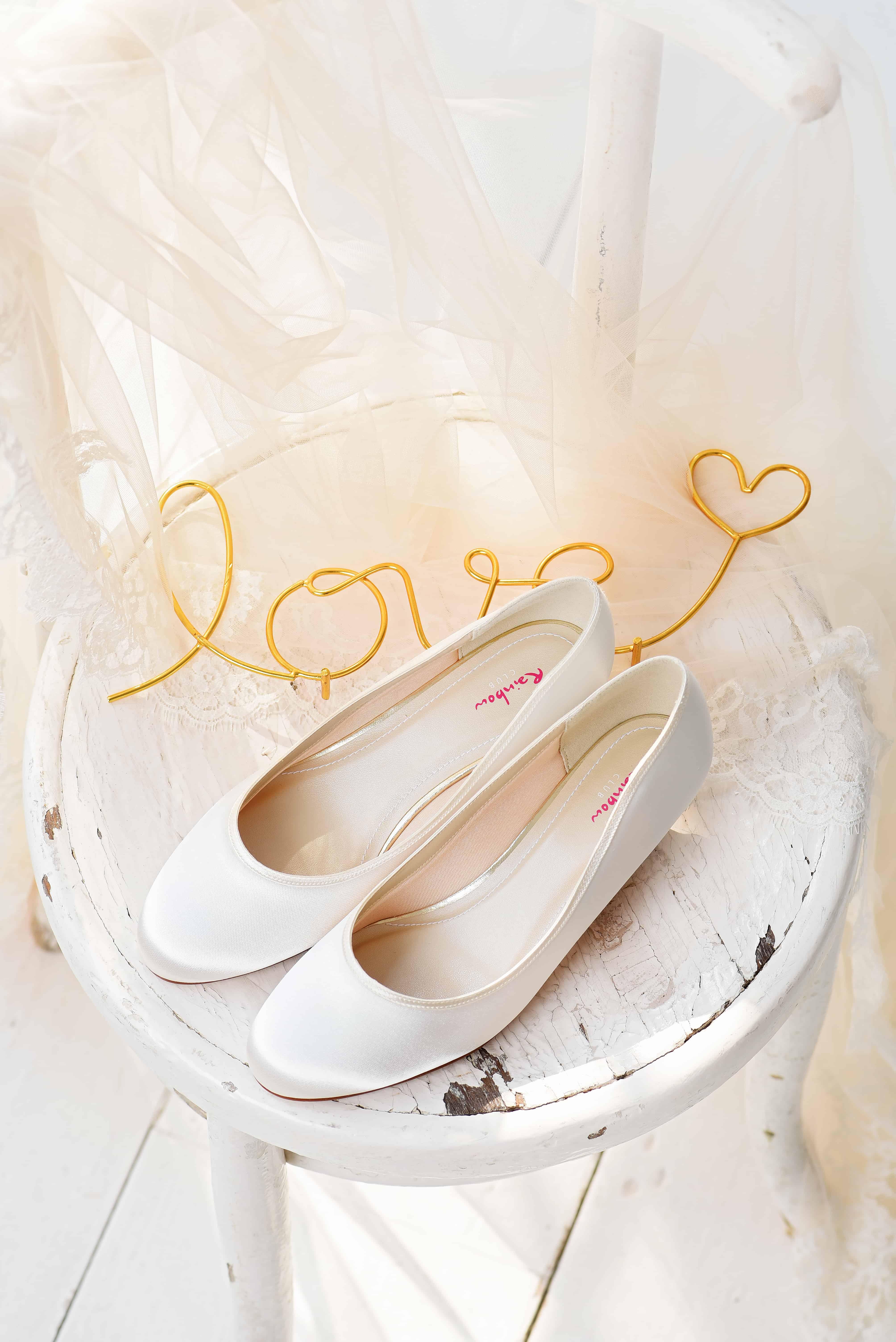 Bruidsschoenen Trouwschoenen Sneakers Pumps Bruid heel plat Paula