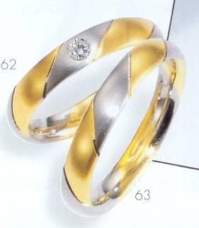 Trouwringen goud bi-color geel en wit goud