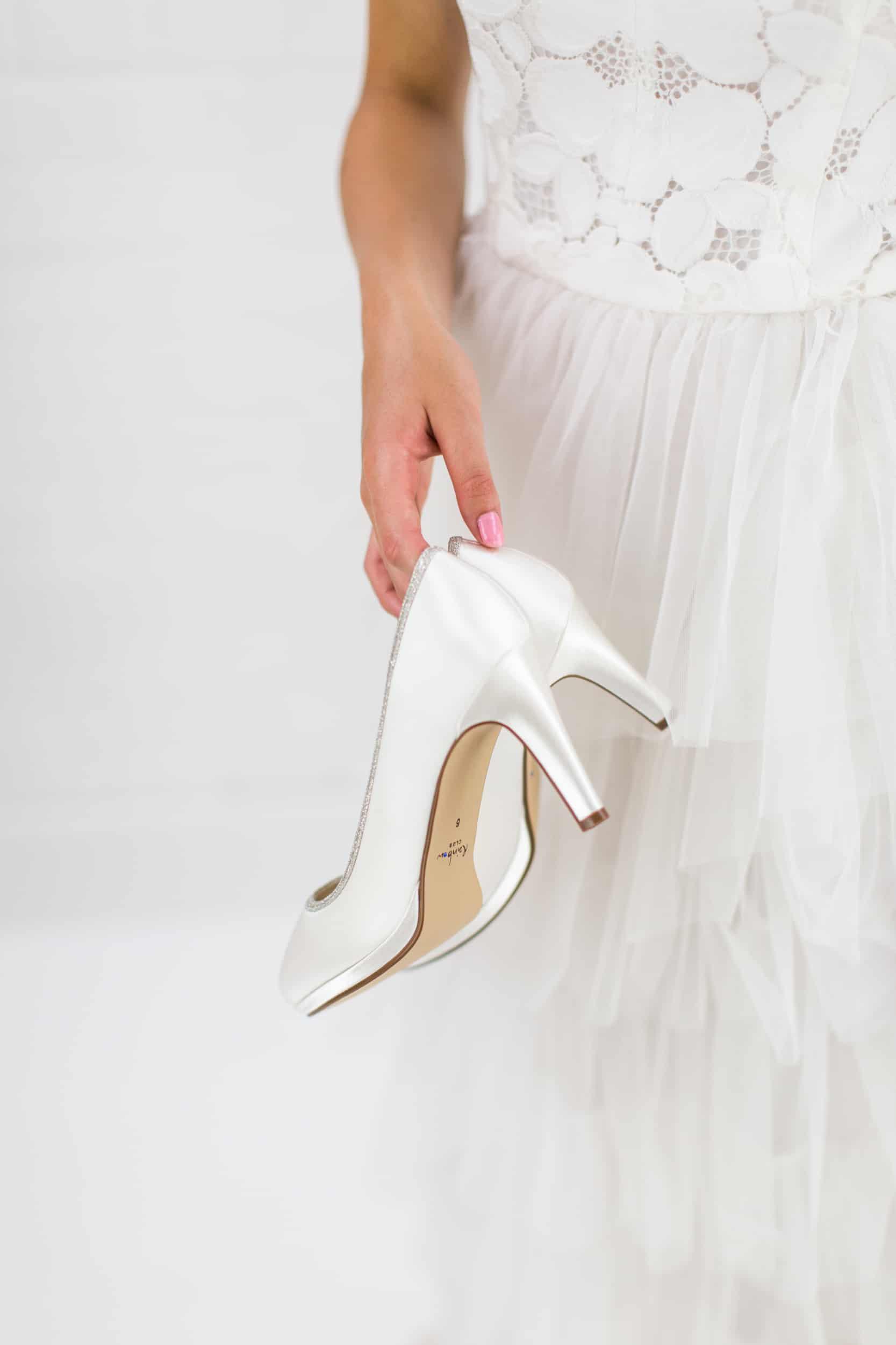 Bruidsschoenen Trouwschoenen Sneakers Pumps Yanna hoge hakken
