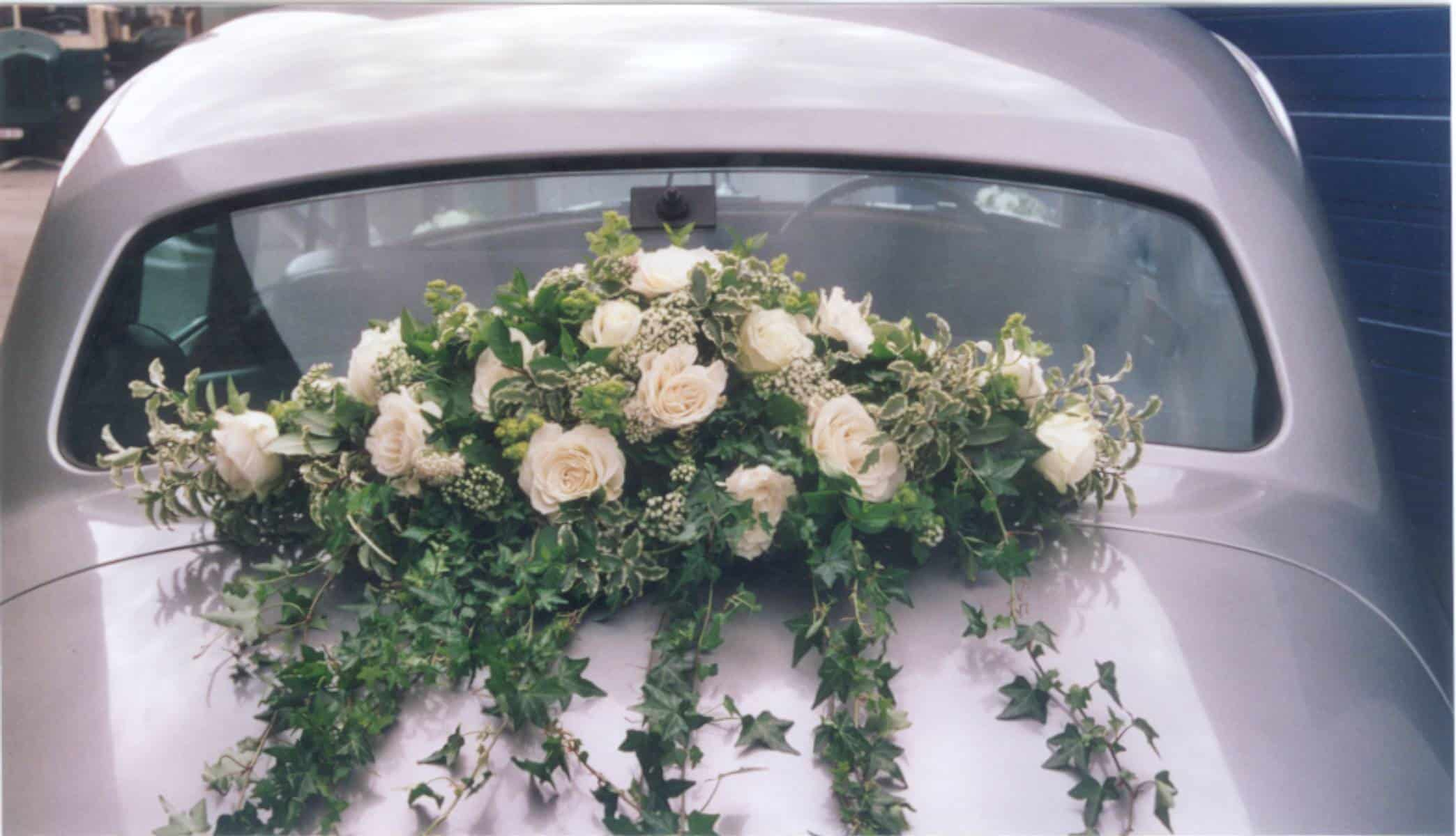 Rolls Royce Silver Cloud bloemversiering ceremoniewagen