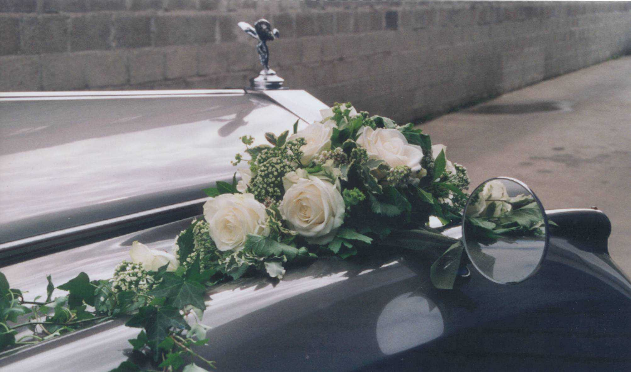 Rolls Royce Silver Cloud bloemen