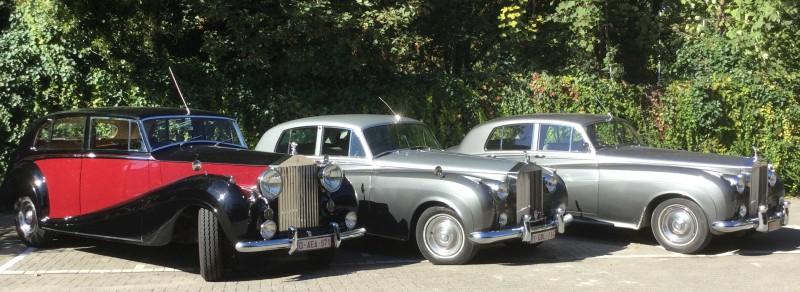 Rolls Royce Silver Wraith en Silver Cloud ceremoniewagens