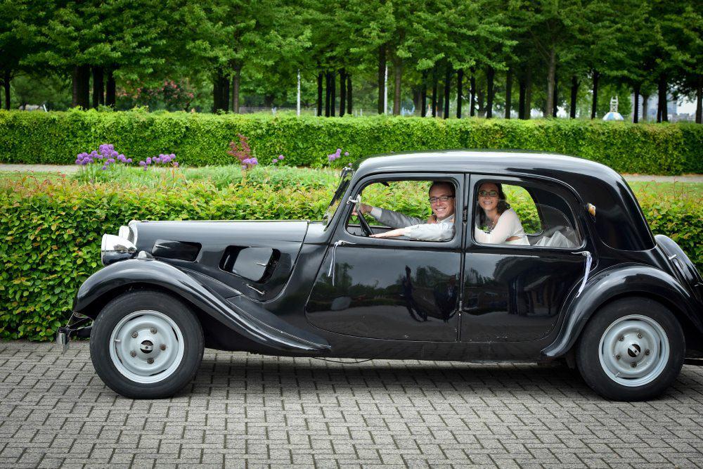 Citroën Traction Avant zwart bruidsauto