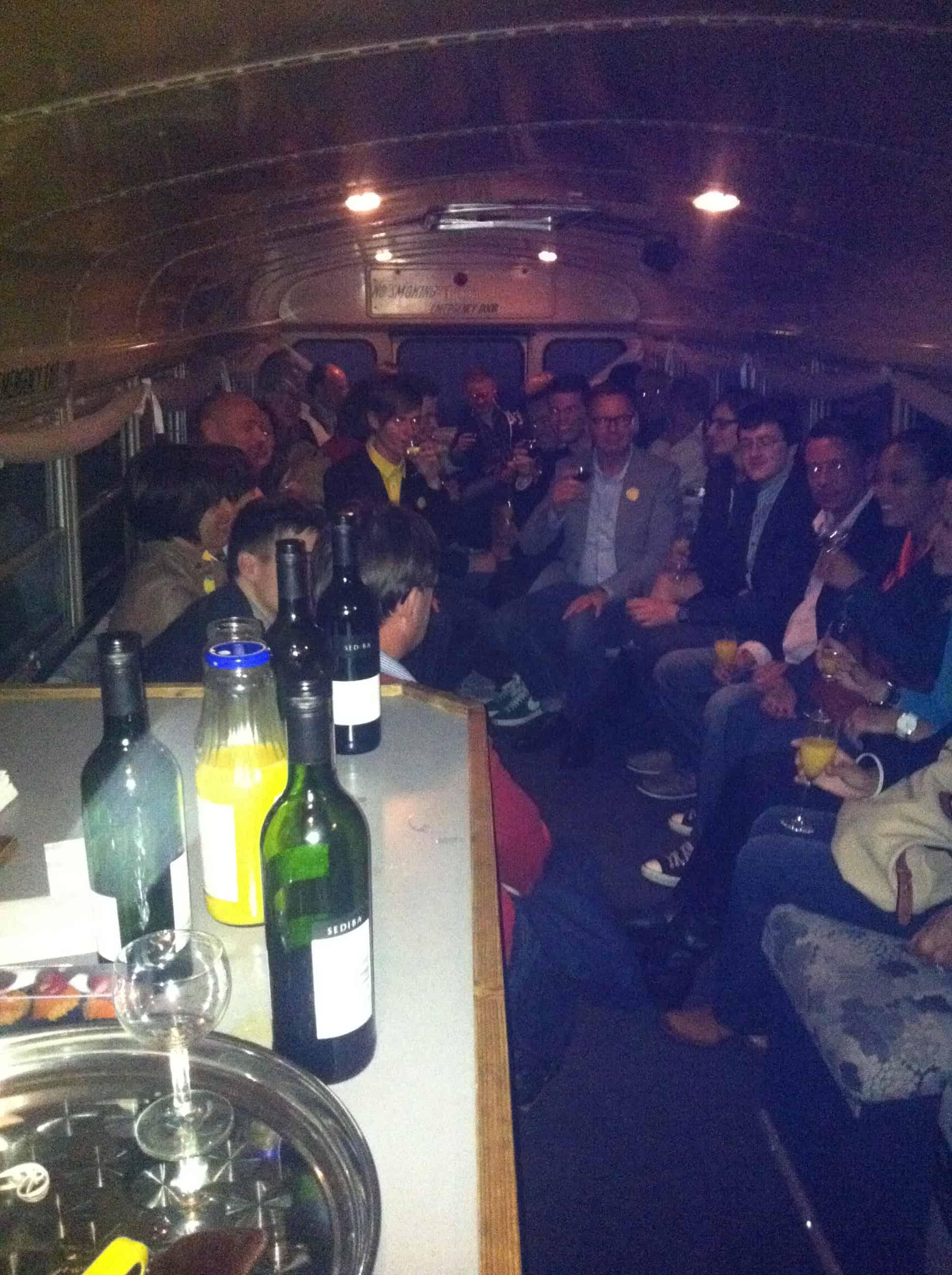 Amerikaanse schoolbus partybus