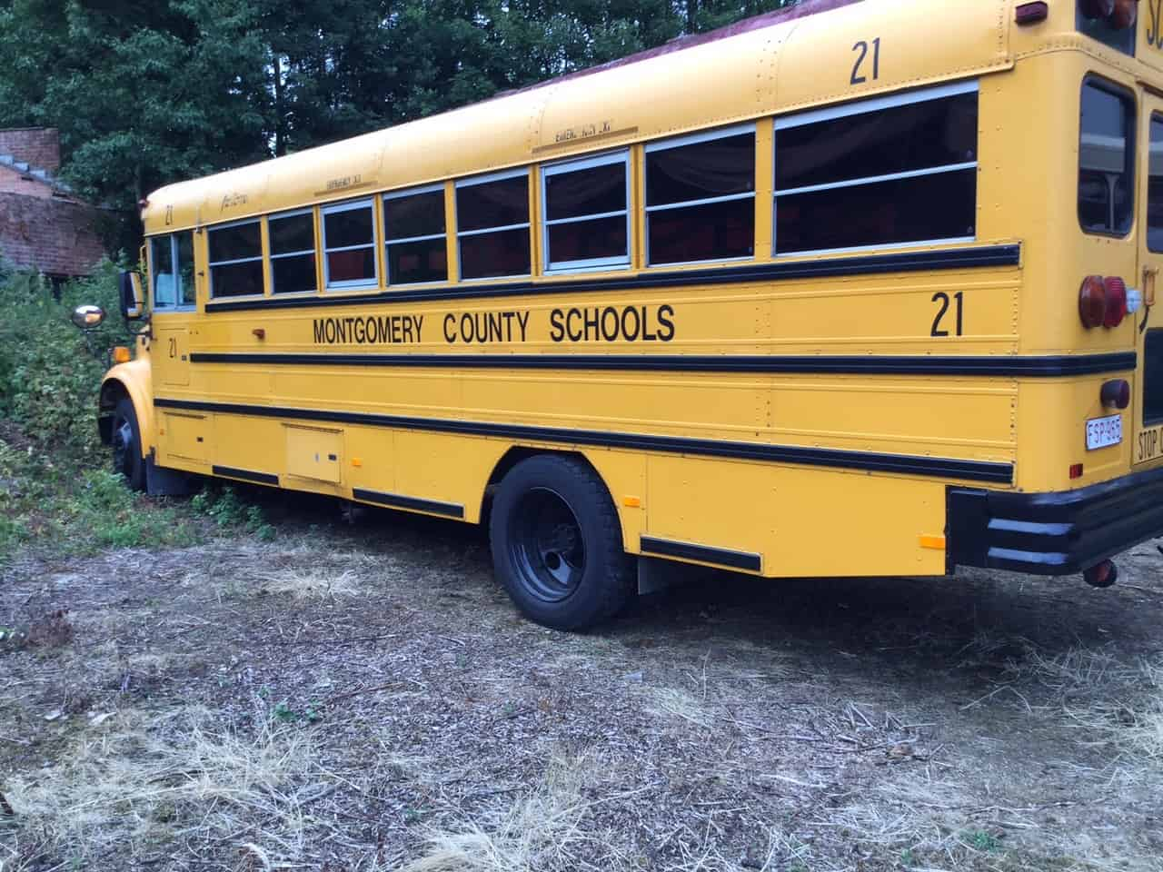 Amerikaanse Yellow Schoolbus