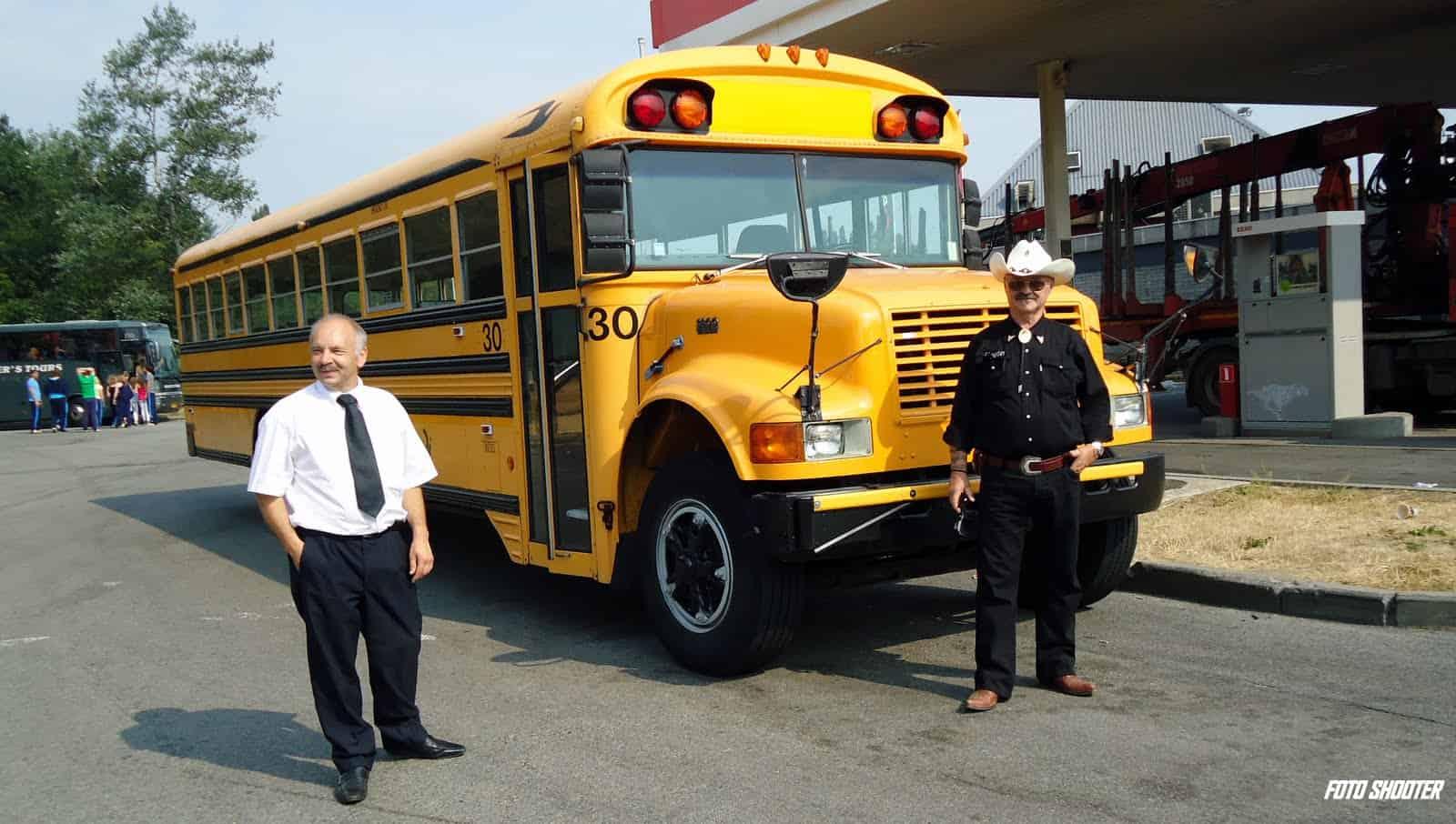 Amerikaanse schoolbus voor trouw