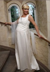 Zwangerschap bruidsjurk IMEZW-UB0936C