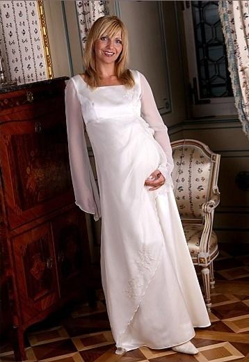 Zwangerschap bruidsjurk lange mouwen