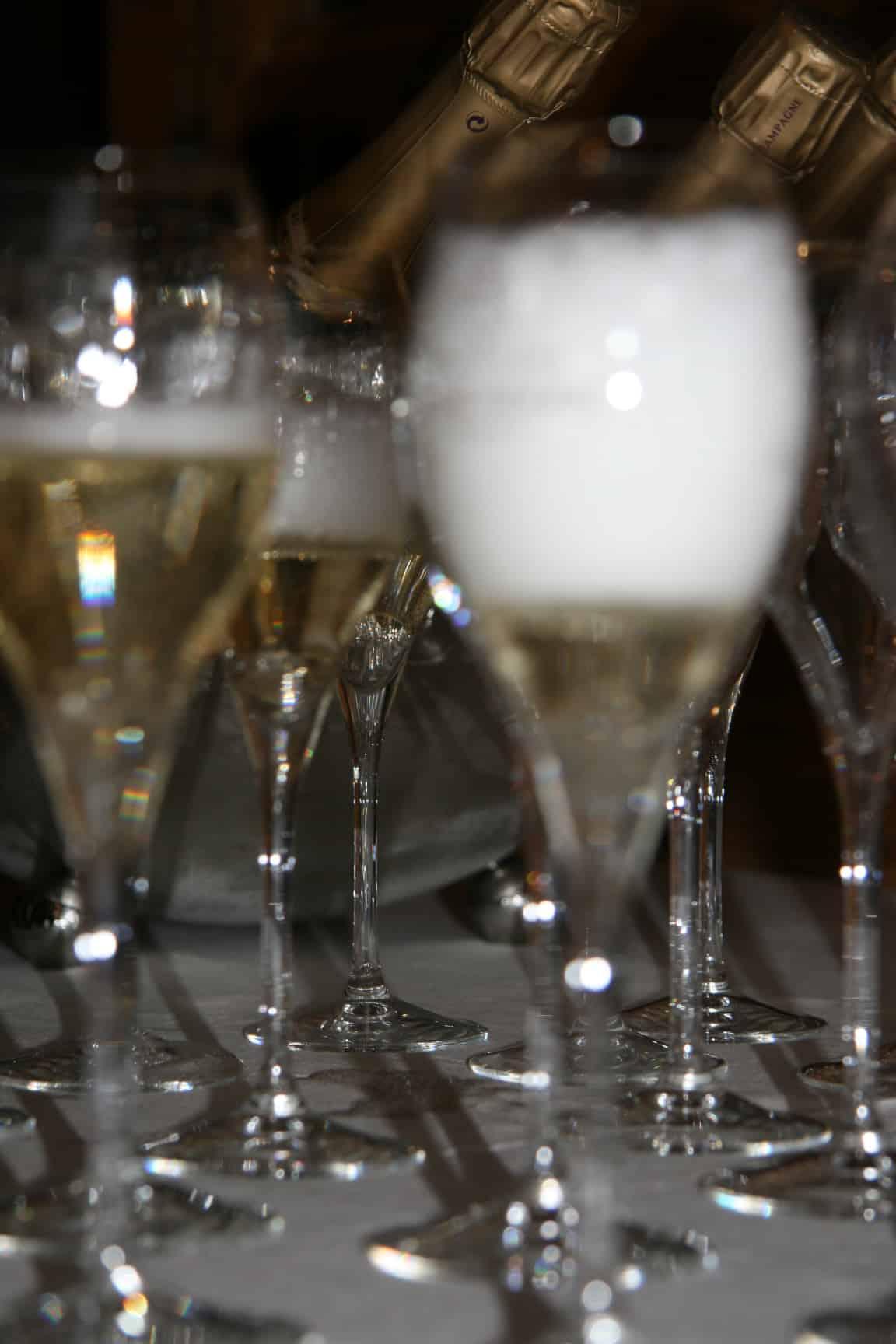 Champagneglazen te huur