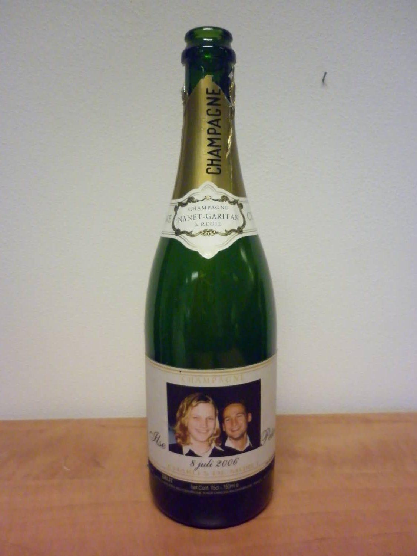 Wijn Champagne gepersonaliseerd etiket