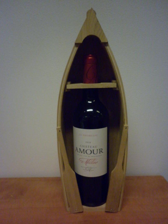 Huwelijksboot wijnfles gepersonaliseerd etiket