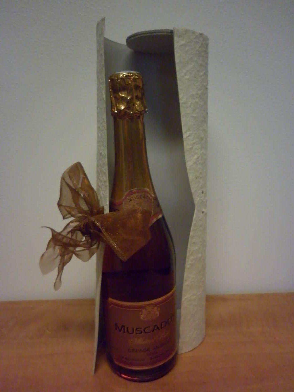 Wijn Champagne Handgeschept papier doos