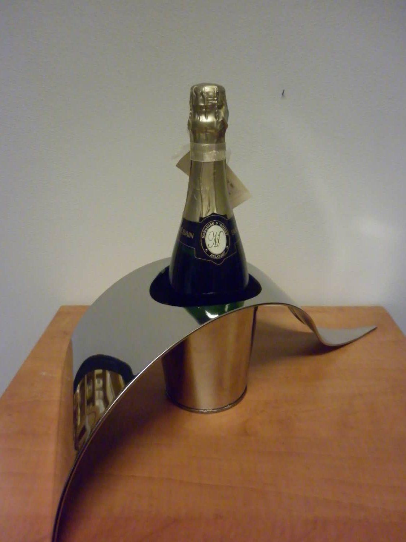 Vaas met fles champagne