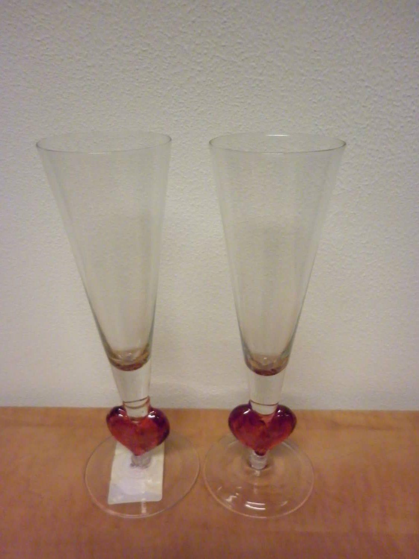Glazen wijn champagne dankgeschenk