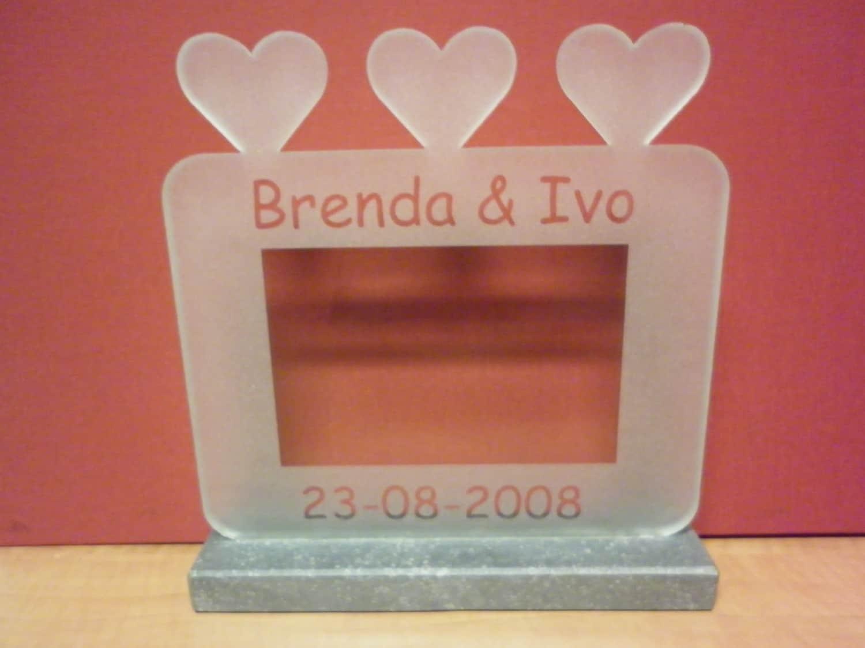 Fotokader bruidspaar gepersonaliseerde namen