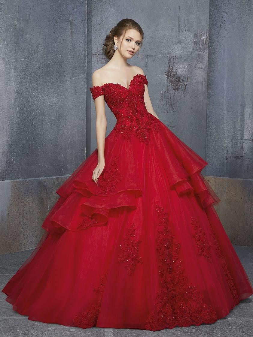 Bruidsjurken gekleurd rood