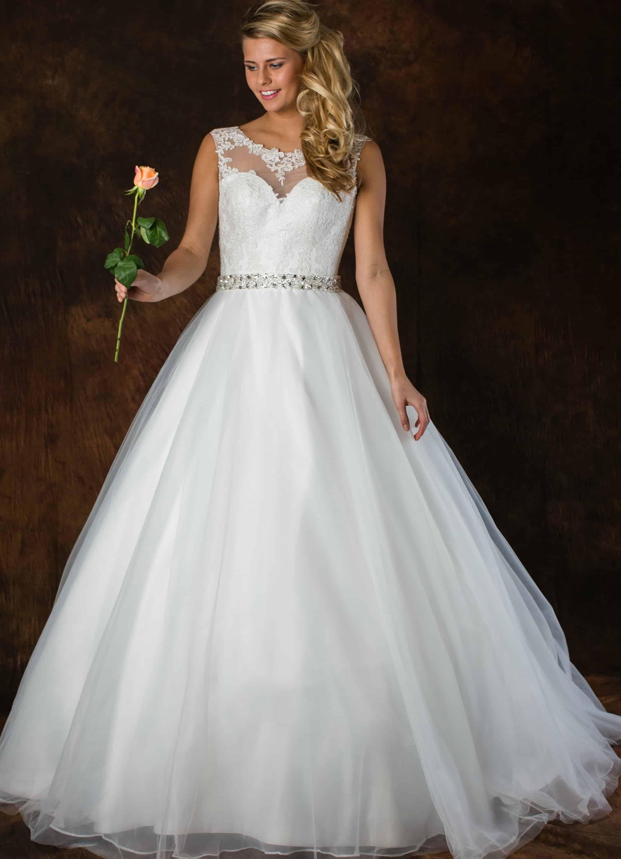 Romantische trouwjurk ALLF21