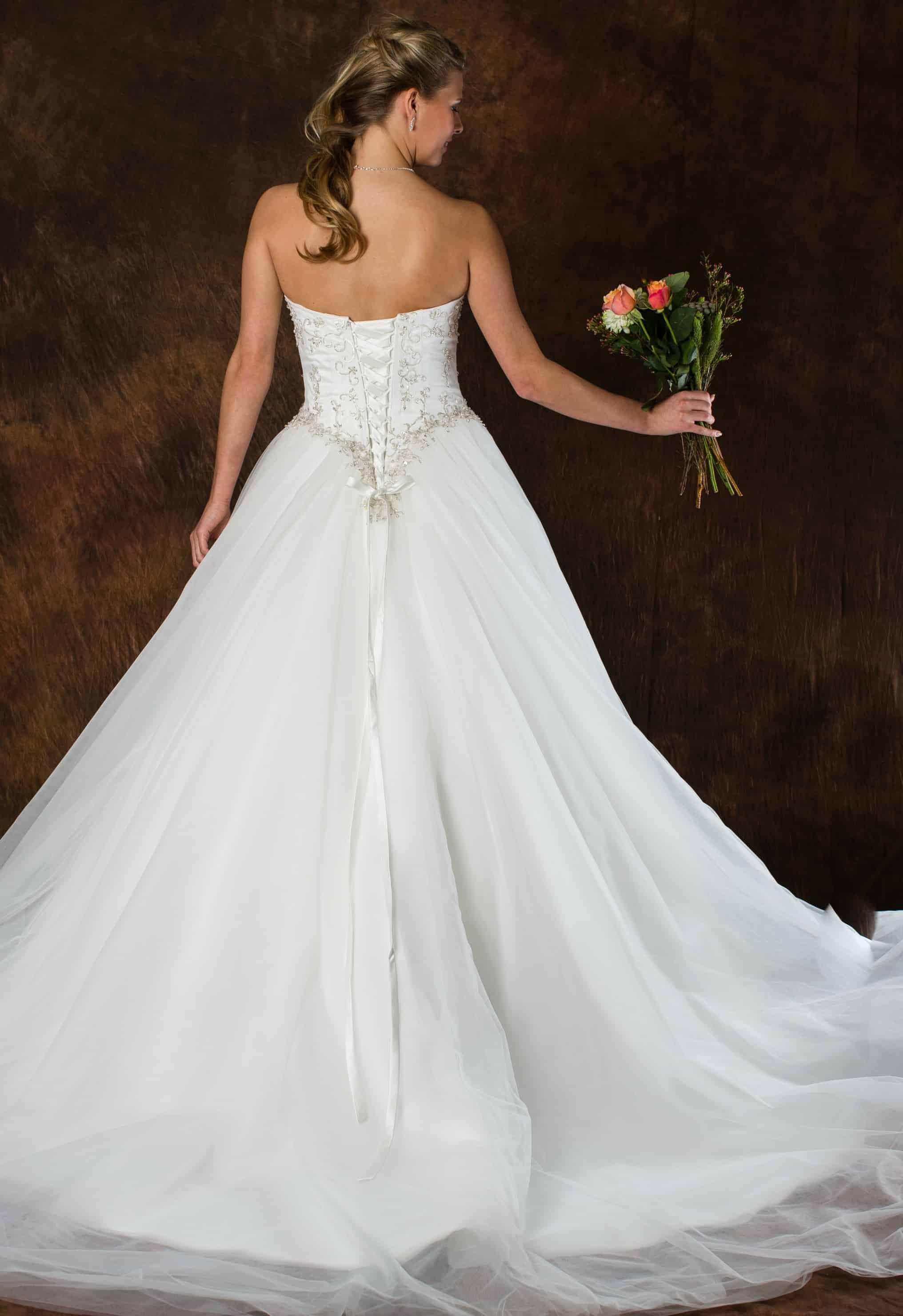 Romantische trouwjurk A-Lijn ALLF24