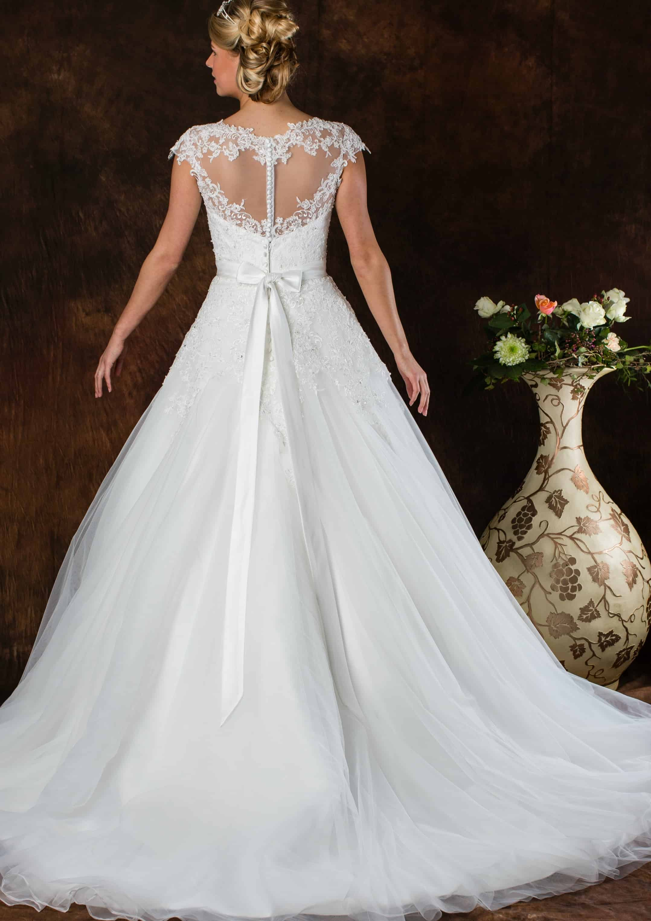 Romantische trouwjurk A-Lijn ALLF27