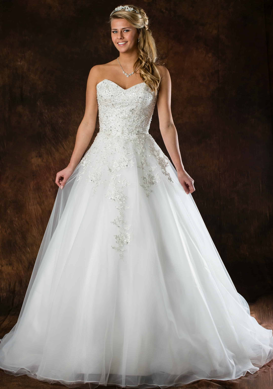 Romantische trouwjurk A-Lijn ALLF31