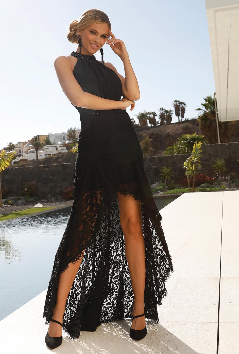 Cocktailkleed kort-lang Linea Raffaelli - Tenerife 19-20 - Set 487 - 191-908-01cr