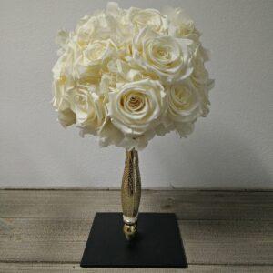 Bruidsboeket gevriesdroogd DAV011 witte rozen