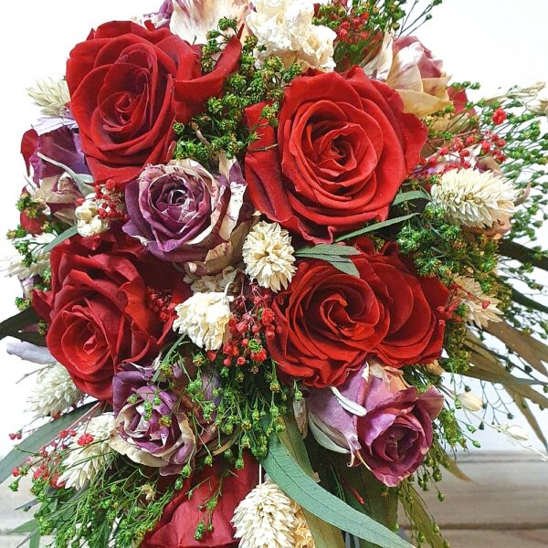Bruidsboeket gevriesdroogde bloemen DAV017