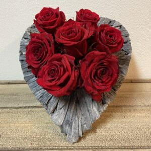 Valentijn Hartschaal Klein Rode Rozen