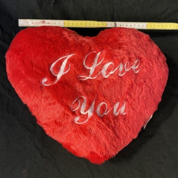 Kussen Rood Hart I Love You 36cm