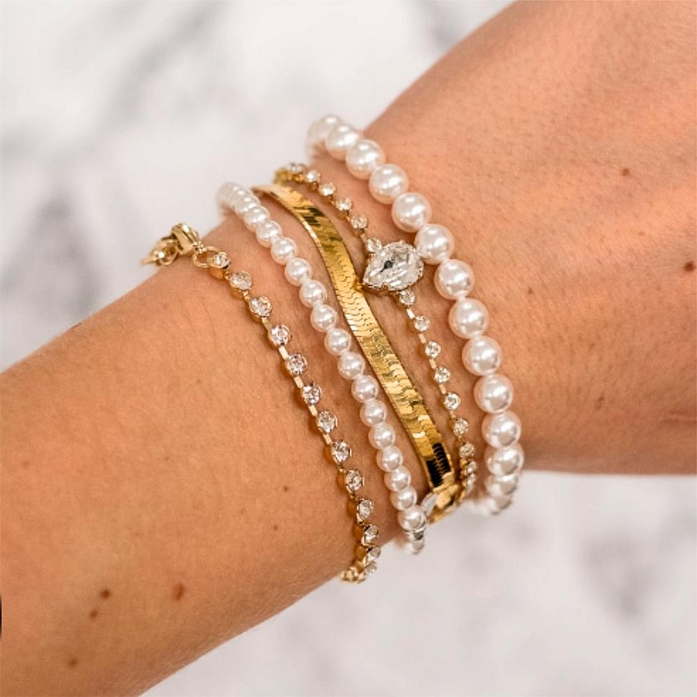 Trouwjuwelen Bruidsjuwelen Abrazi Bruid armband set