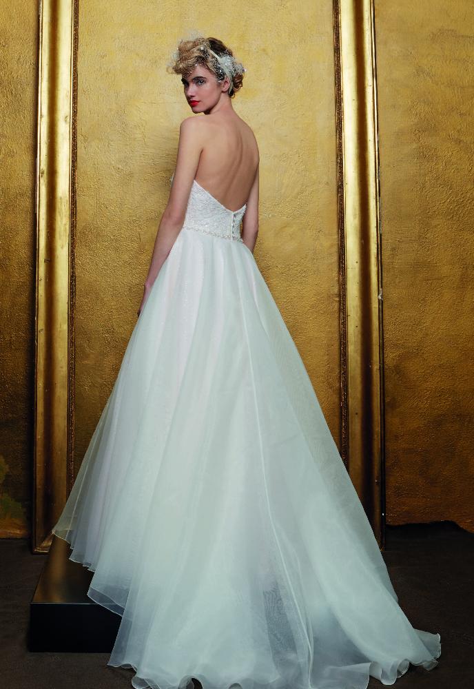 Romantische Prinsessenjurk Bustier met ceintuurtje en tulen rok met glitter onderlaag