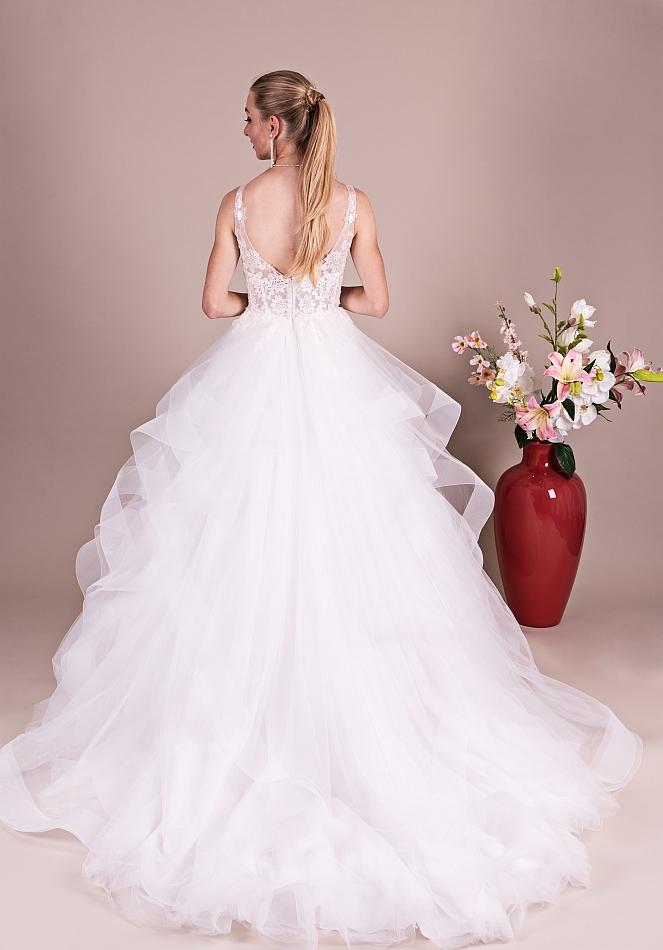 Bruidsjurken Romantisch met brede stroken rok