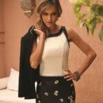 Suitekleding Feestkledij Linea Raffaelli doordraagbaar jurk met vestje