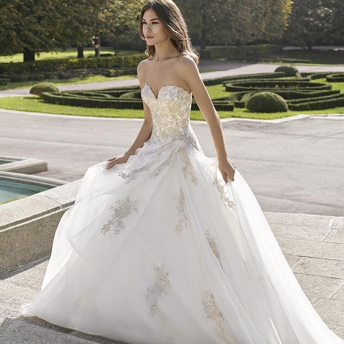 Prinsessen trouwjurk Romantische Bruiloft Huwelijk