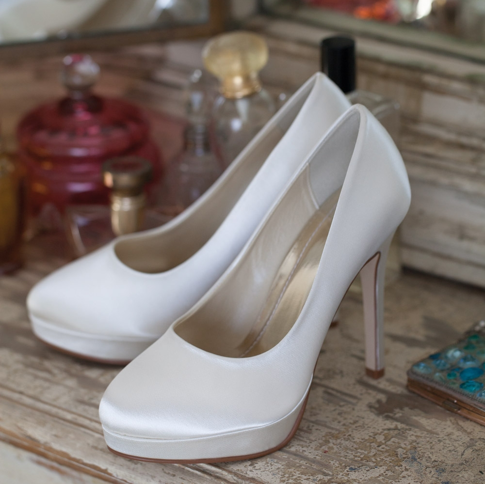 Bruidsschoenen Trouwschoenen Bruid Sneakers Pumps Cindy Platteauzool