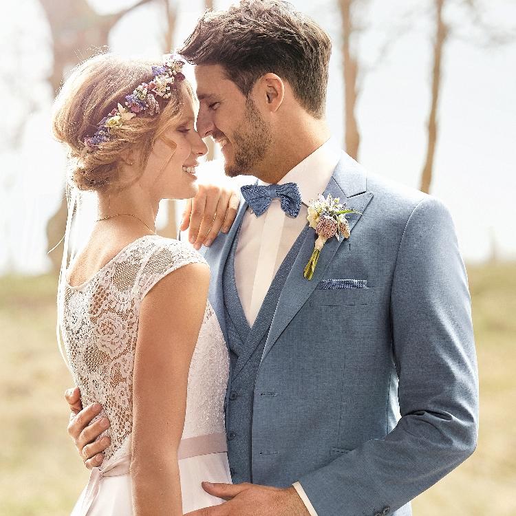 Trouwkostuums Bruidegom Bohemian Style Green Wedding